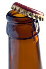 Bouteille de bière ouverte