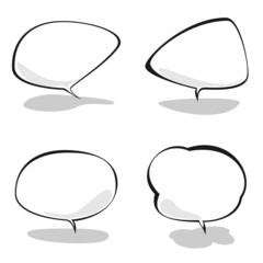 Set of speech bubbles, vector illustration
