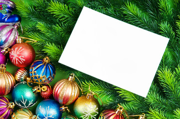 Festive concept with paper with copyspace