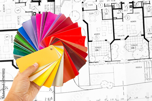 Leinwanddruck Bild Farbauswahl - Choose the right color
