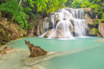 The cliff waterfall, Huay Mae Kamin waterfall