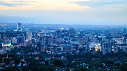 In the city the night. Almaty, Kazakhstan