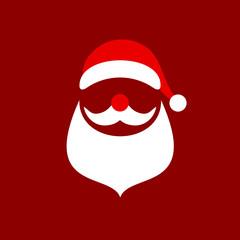 Abstract Christmas Card Santa Red