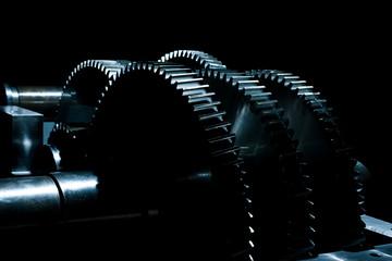 Large cog wheels in the motor.