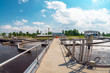 Leinwanddruck Bild - Water cleaning facility
