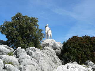 Rock and Statue