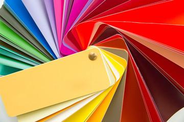 Farbfächer zur Farbauswahl