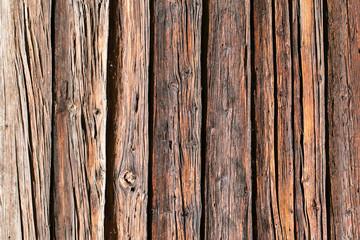 Hintergrund Textur aus verwitterten braunen Holzbrettern