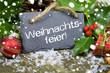 Weihnachtsdeko mit Weihnachtsfeier