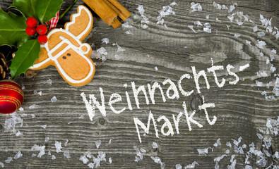 Weihnachtsdeko mit Weihnachtsmarkt