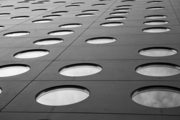 Abstrakcyjna czarno biała architektura