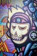 Graffiti crane squelette