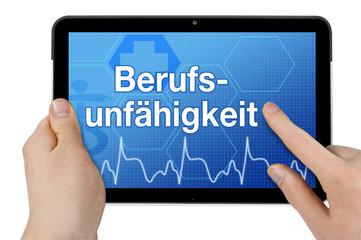 Tablet mit Interface und Berufsunfähigkeit