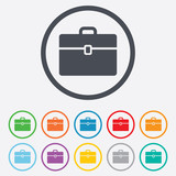 Fototapety Case sign icon. Briefcase button.