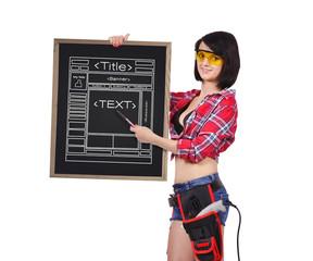 blackboard with website