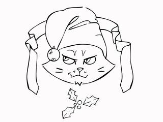 Gatto con Cappello Natale