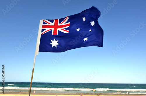 Fotobehang Oceanië The National flag of Australia