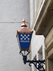 Copper police sign in North Berwick