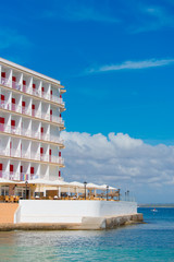 Part of luxury hotel near the sea.