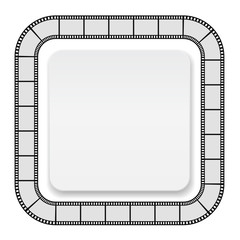 film roll frame with card - background