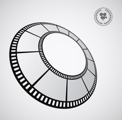 film strip round - abstract background