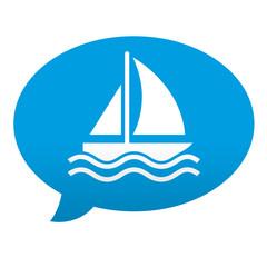 Etiqueta tipo app comentario velero
