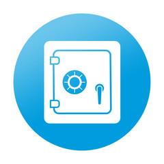 Etiqueta tipo app redonda caja de seguridad
