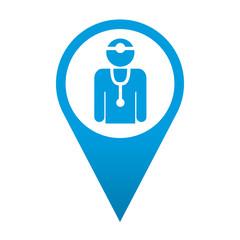 Icono localizacion simbolo medico