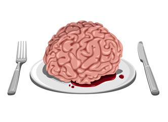 Halloween themed - Brain on plate