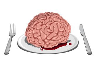 Halloween themed - Brain on plate