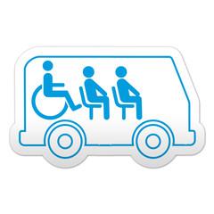 Pegatina simbolo transporte minusvalidos