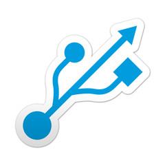 Pegatina simbolo USB