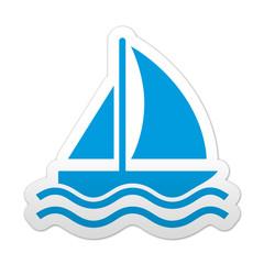 Pegatina simbolo velero