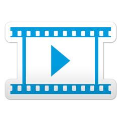 Pegatina simbolo video