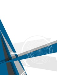 Abstract modern minimal flat flyer design