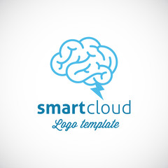Smart Cloud Abstract Vector Logo Template