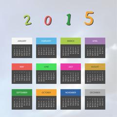 Calendar Template for Year 2015