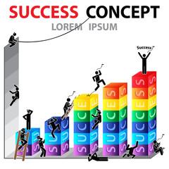Success Concept. Human Icon. Vector illustration