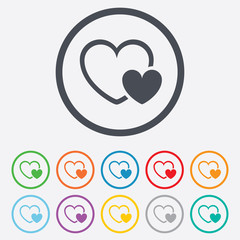 Hearts sign icon. Love symbol.