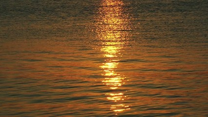 Sunlight Reflections on the Sea Water
