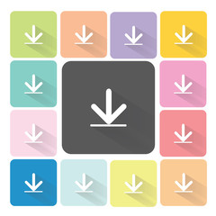 Download Icon color set vector illustration