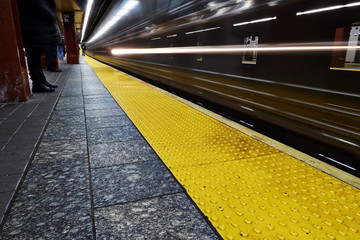 Approaching Underground train in New York