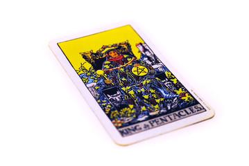 タロットカード ペンタクル キング