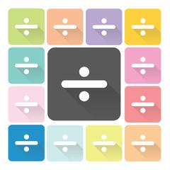 Division Icon color set vector illustration
