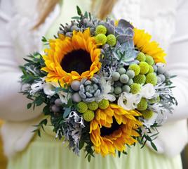 festive wedding bouquet of flowers