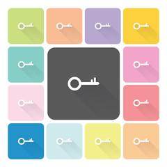 Key Icon color set vector illustration