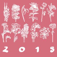 calendar cover 2015 flowers