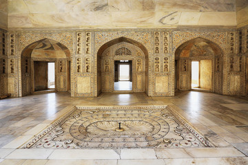 Agra red fort temple, India.