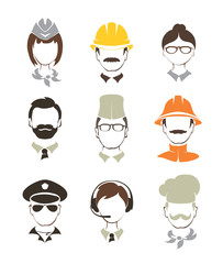 Set illustrations -- people of different professions