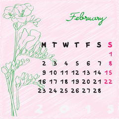 february 2015 flowers